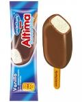 Сладолед Чичо Чарли алтима бейби клечка ванил.+шок.глазура 73g ............