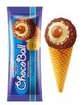 Сладолед Чичо Чарли Choco ball корнет 110ml ванил.+шок.глазура......