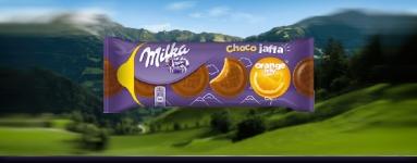 Бисквити Milka 147g портокал*-****