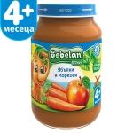 Пюре Bebelan 190g плод.ябълки и моркови 4м