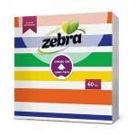 Салфетки Zebra 33/33 60ка черга