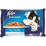 Храна за котки Felix 4*100g сьомга и писия