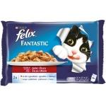 Храна за котка Felix 4*100g говеждо и пиле