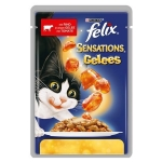 Храна за котка Felix 100g sensations говеждо домати......