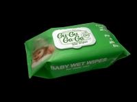 Кърпи мокри 130бр.Gu-Gu Ga-Ga с капак зелени зелена ябълка......