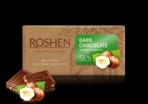 Ш-д Roshen 90g dark натрошен лешник 56%