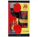 Уиски J&B 700ml+2ве чаша