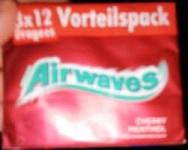 Дъвки AIRWAVES 3ка*12бр cherry mentol