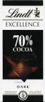 Шоколад Lindt excellence 100g 70% cocoa intense dark