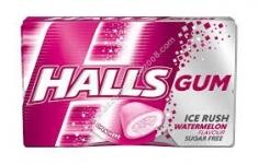 Дъвки Halls 18g без захар ice rush watermelon+1бр гратис/2на цената на 1...