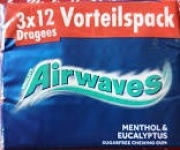 Дъвки AIRWAVES 3ка*12бр mentol&eucalyptus