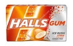 Дъвки Halls 18g без захар citrus *-****