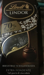 Бонбони шоколадови Lindor 200g dark 70% cacao*-****