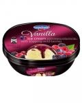 Сладолед Чичо Чарли кутия 900ml ванилия с горски плод заливка............
