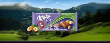 Шоколад Milka 100g лешник натрошен *-****